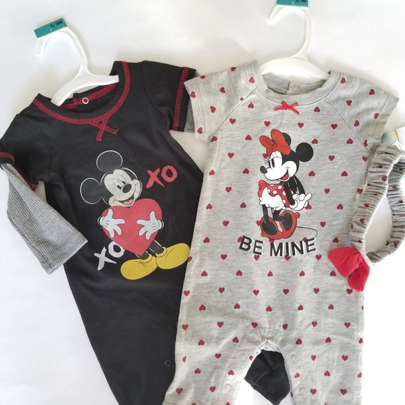 Baby Mickey Mouse Romper Set Size 0 3M NWT Twin BA 3f109bce7